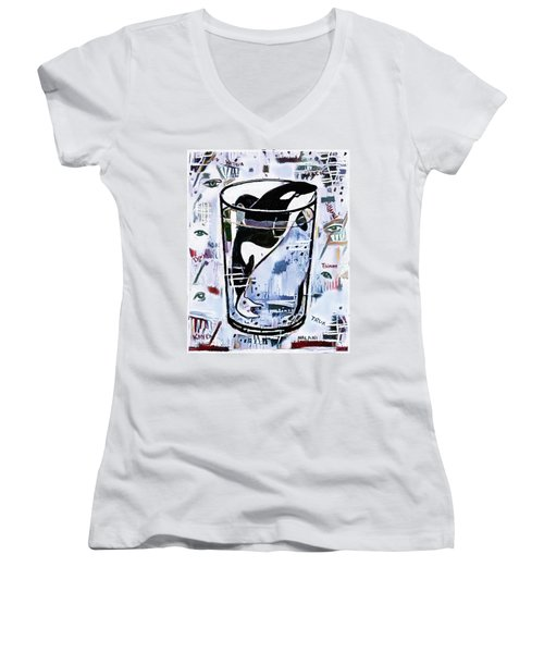 Orca #1 Women's V-Neck (Athletic Fit)