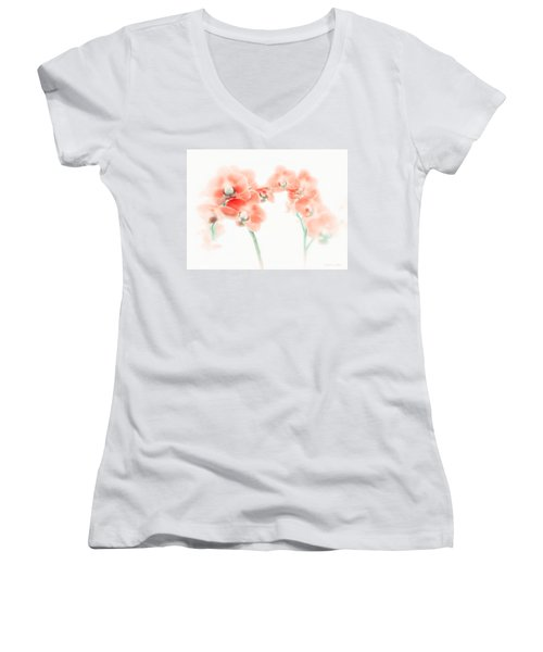 Orchid Collection 'soft Red' Women's V-Neck (Athletic Fit)