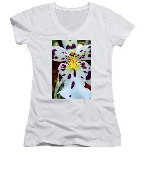 Orchid Cross Women's V-Neck