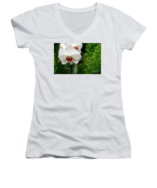 Orchid White Women's V-Neck (Athletic Fit)