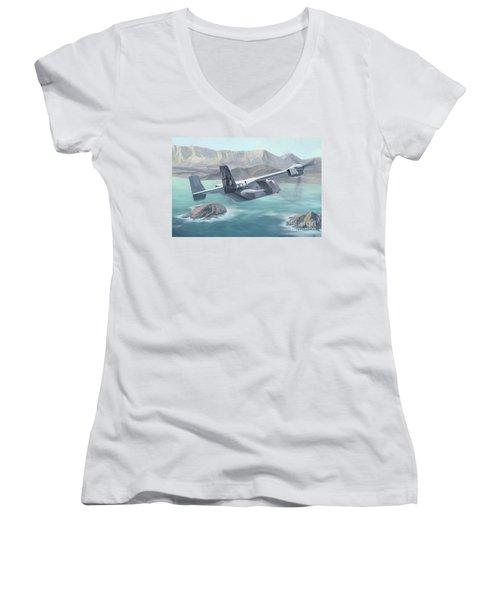 Osprey Over The Mokes Women's V-Neck T-Shirt