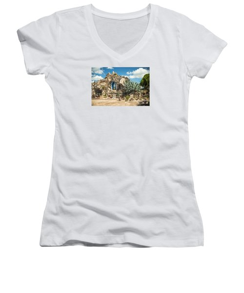 Our Lady Of Lourdes Grotto Women's V-Neck