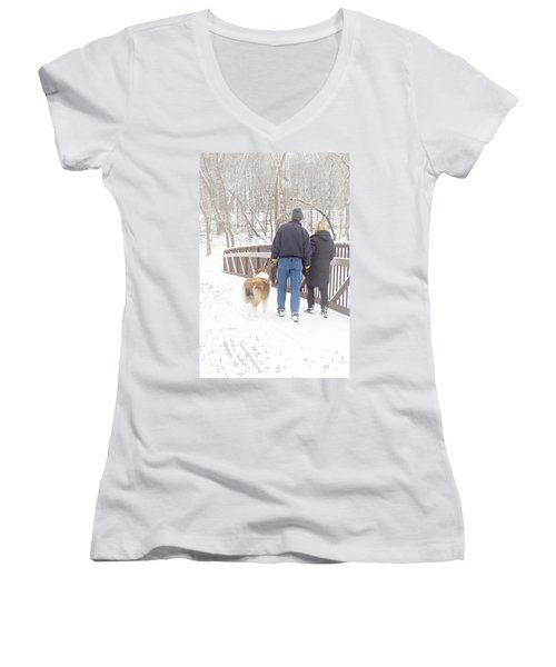 Our Love Will Keep Us Warm Women's V-Neck