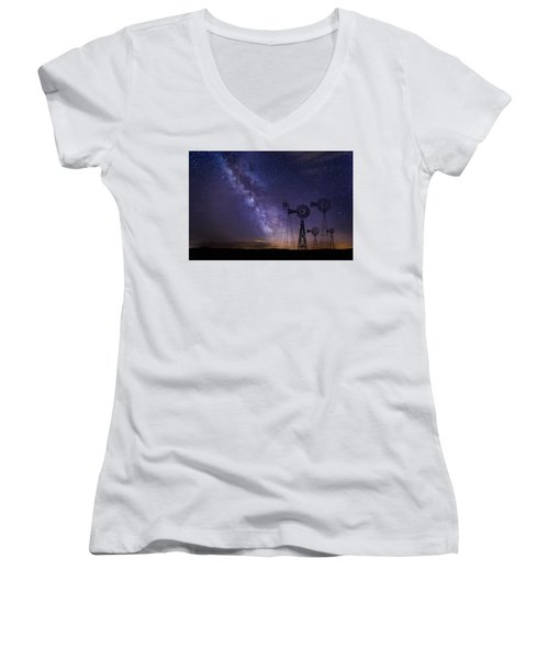 Our Milky Way  Women's V-Neck (Athletic Fit)