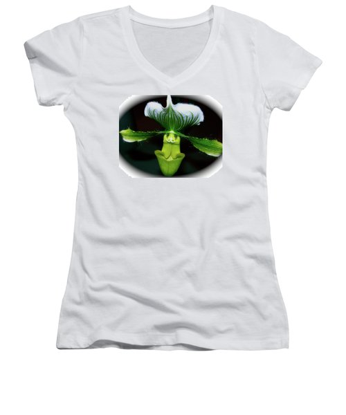 Out Of Darkness Women's V-Neck T-Shirt (Junior Cut) by Randy Rosenberger