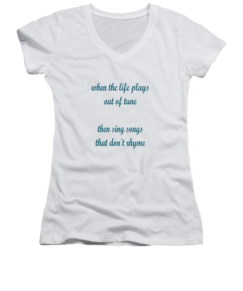 Out Of Tune Faded Women's V-Neck (Athletic Fit)