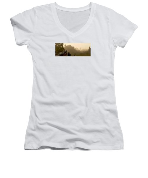 Out The Front Door Women's V-Neck T-Shirt (Junior Cut) by Steven Lebron Langston