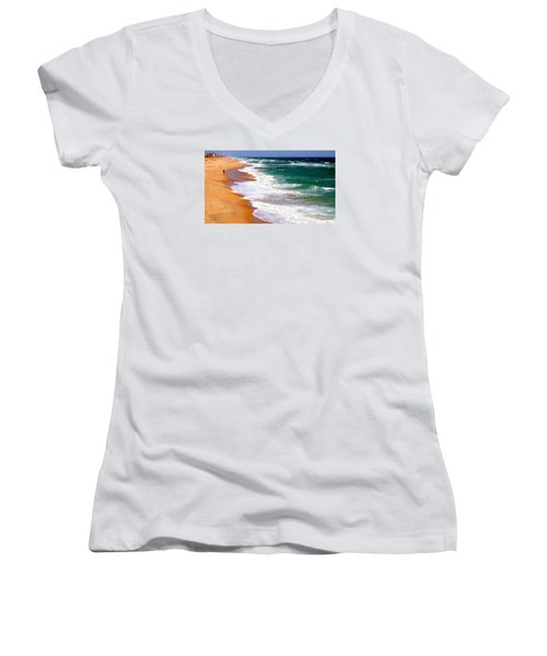 Outer Banks Beach North Carolina Women's V-Neck T-Shirt