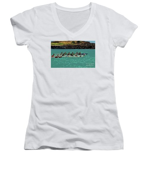 Outrigger Racing Women's V-Neck (Athletic Fit)