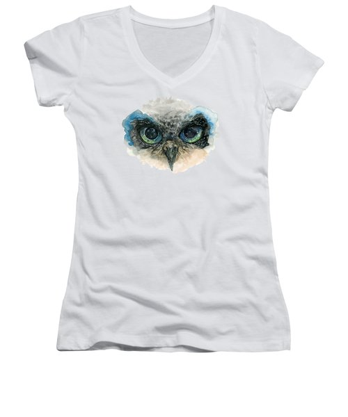 Owl Eyes Women's V-Neck (Athletic Fit)