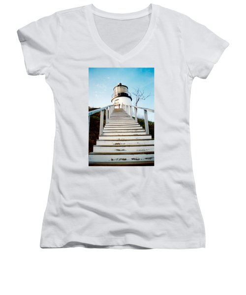 Owl's Head Light Women's V-Neck (Athletic Fit)