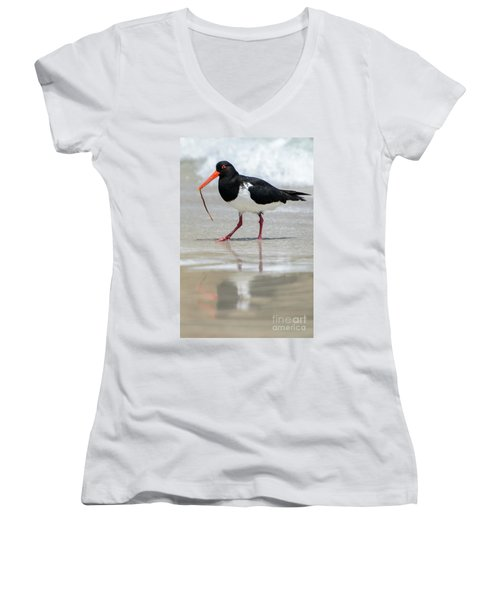 Oystercatcher 03 Women's V-Neck (Athletic Fit)