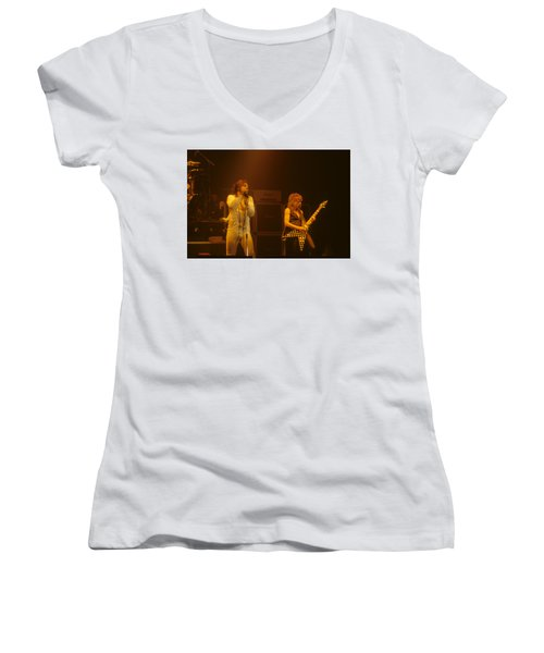Ozzy Ozbourne And Randy Rhoads Women's V-Neck