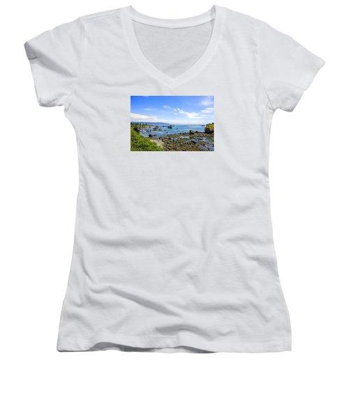 Pacific Northwest Women's V-Neck T-Shirt (Junior Cut) by Chris Smith