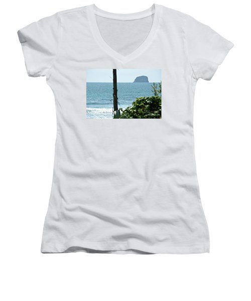 Women's V-Neck T-Shirt (Junior Cut) featuring the photograph Pacific Ocean by Yurix Sardinelly