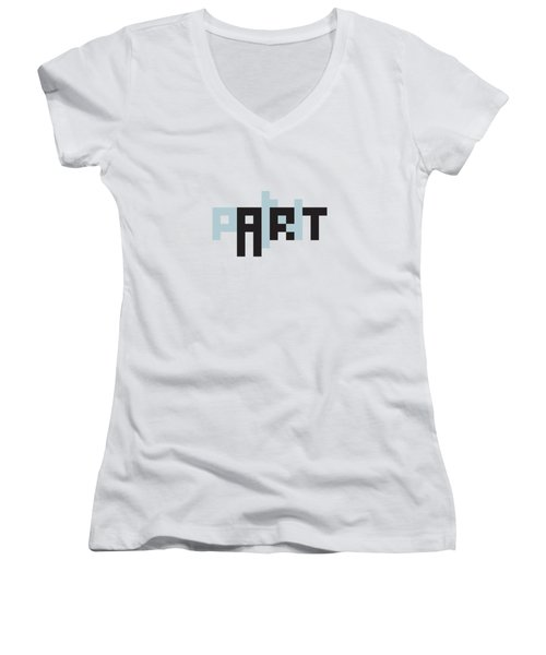 Pain In The Art Women's V-Neck (Athletic Fit)