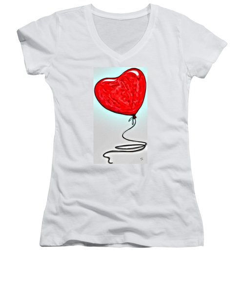 Painted Heart Women's V-Neck