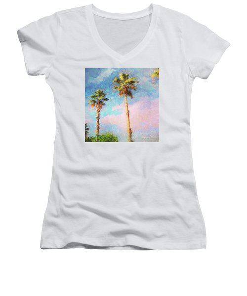 Painted Palms Women's V-Neck