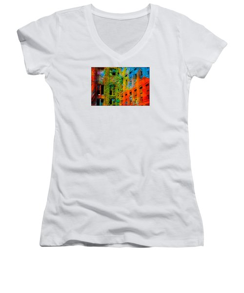 Painted Windows Women's V-Neck T-Shirt