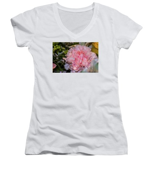 Pale Pink Carnation Women's V-Neck (Athletic Fit)
