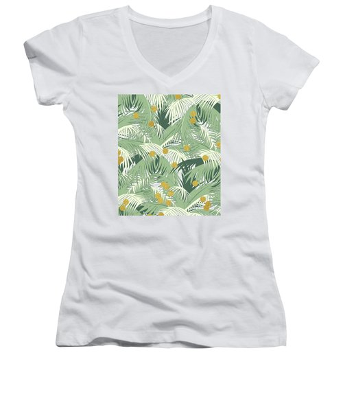 Palm And Gold Women's V-Neck T-Shirt