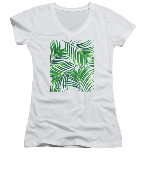 Palm Paradise Women's V-Neck T-Shirt