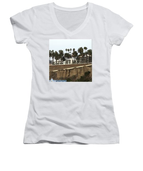 Palm Trees And Apartments Women's V-Neck (Athletic Fit)
