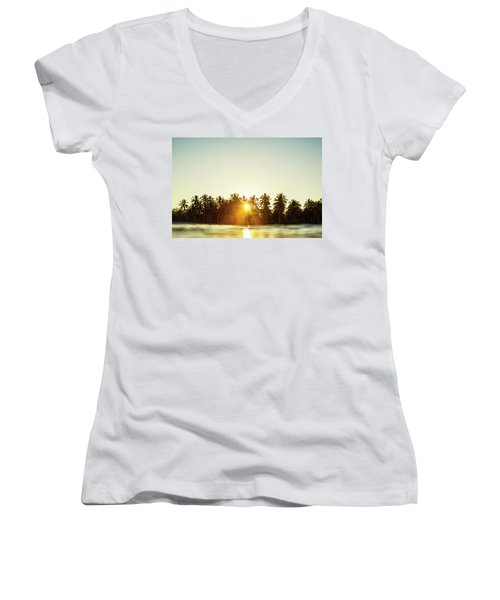 Palms And Rays Women's V-Neck