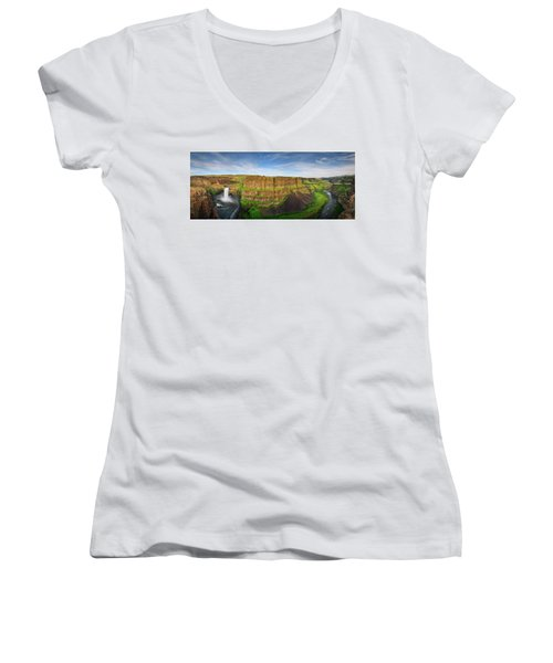 Palouse Falls Canyon Women's V-Neck (Athletic Fit)