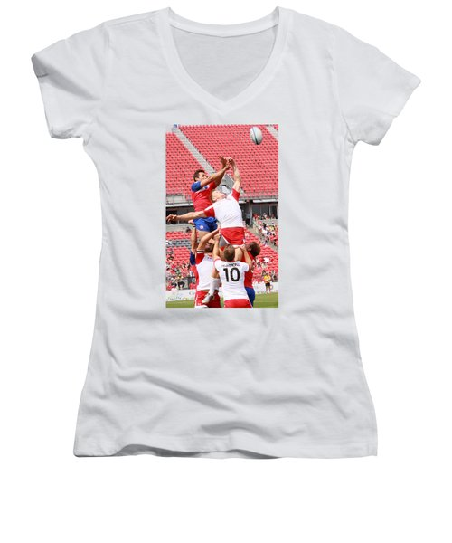 Pamam Games Men's Rugby 7's Women's V-Neck (Athletic Fit)
