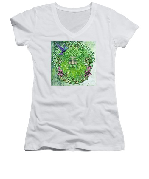 Pan The Protector Women's V-Neck