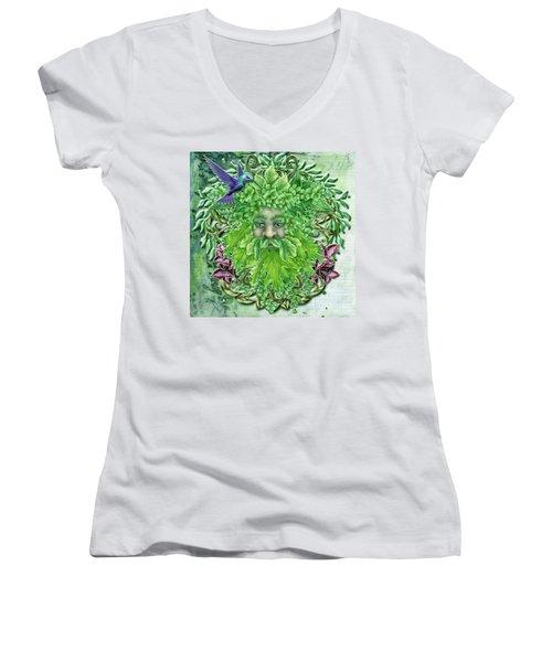 Pan The Protector Women's V-Neck T-Shirt (Junior Cut)