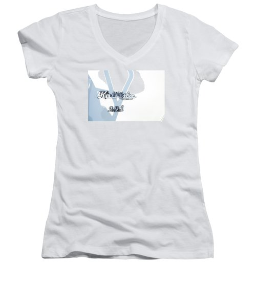 Women's V-Neck T-Shirt (Junior Cut) featuring the photograph Panther Kallista by Theresa Tahara