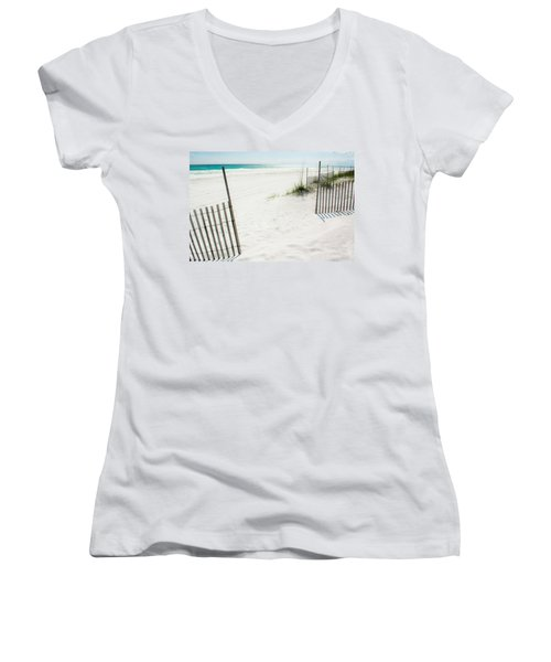 Paradise Scenery Women's V-Neck T-Shirt (Junior Cut) by Shelby  Young