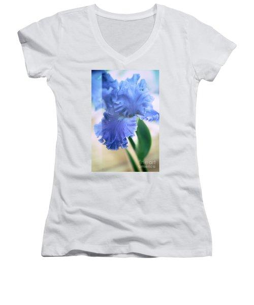 Parallel Botany #5254 Women's V-Neck T-Shirt (Junior Cut) by Andrey Godyaykin