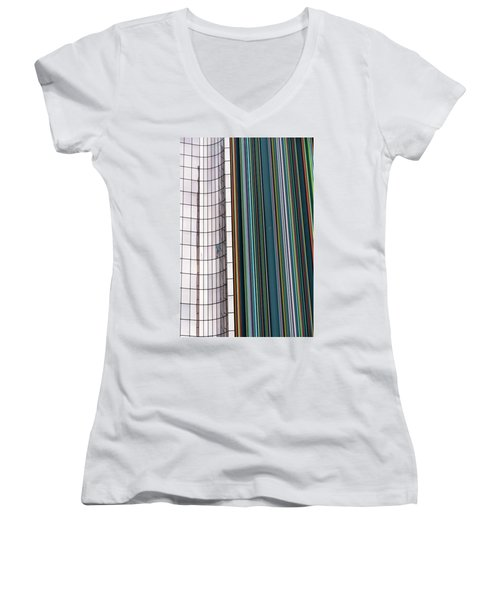 Women's V-Neck T-Shirt (Junior Cut) featuring the photograph Paris Abstract by Steven Richman