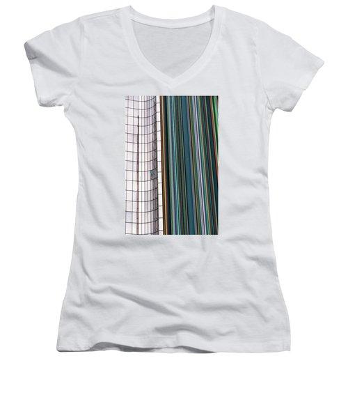 Paris Abstract Women's V-Neck T-Shirt