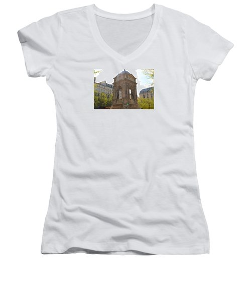 Paris Women's V-Neck T-Shirt (Junior Cut) by Kaitlin McQueen