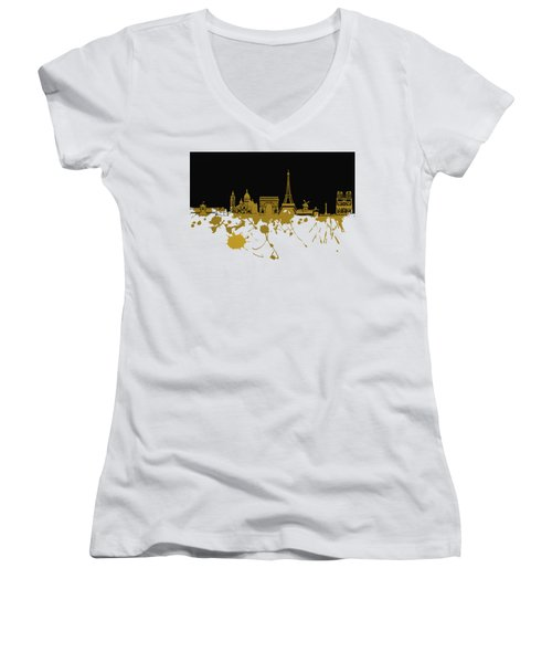 Paris Skyline  Women's V-Neck
