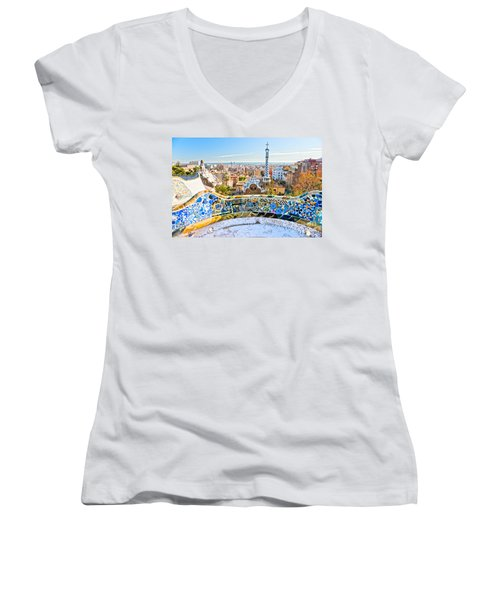 Park Guell Barcelona Women's V-Neck T-Shirt