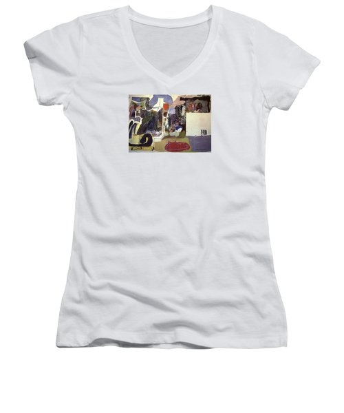 Part 2, Human Landscapes Women's V-Neck T-Shirt