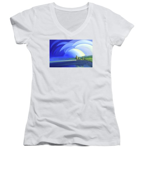 Passing Storm Women's V-Neck (Athletic Fit)