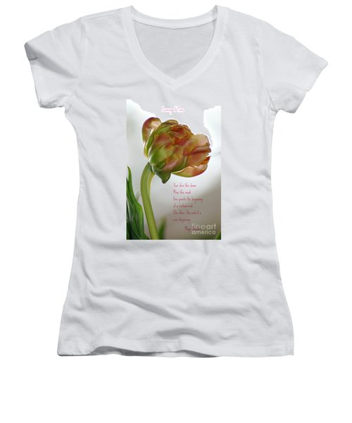 Passing  Time Women's V-Neck