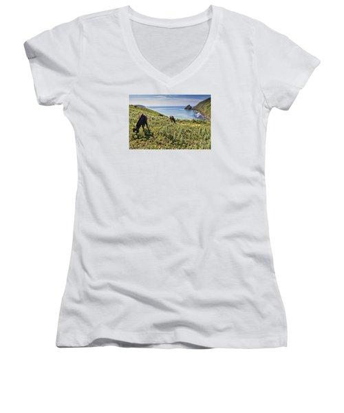 Pasture #2746 Women's V-Neck (Athletic Fit)