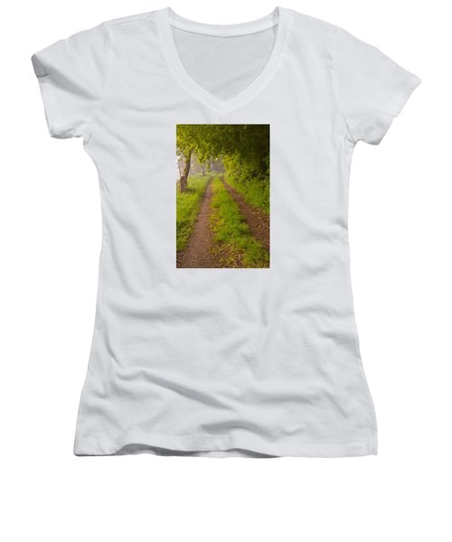 Path From Bullock Lake Women's V-Neck