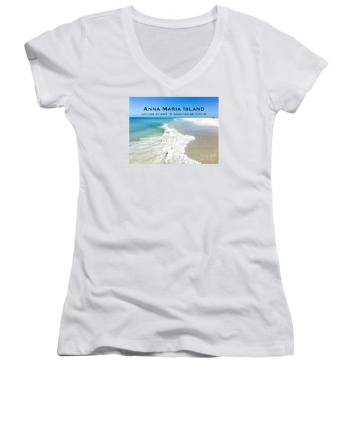 Path To Paradise Women's V-Neck (Athletic Fit)
