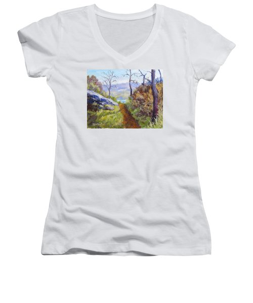 Path To The Water Women's V-Neck (Athletic Fit)