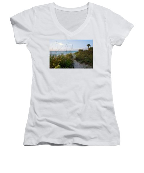 Pathway To Barefoot Beach  In Naples Women's V-Neck