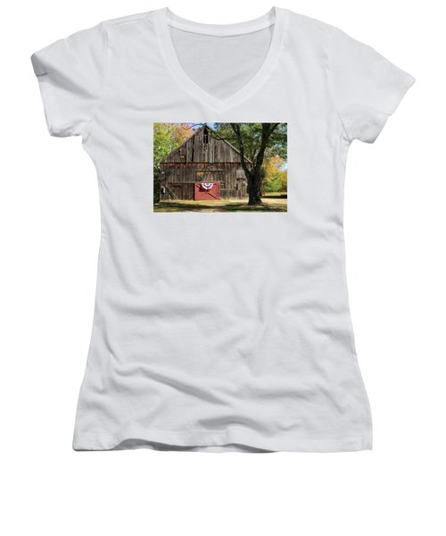 Patriotic Barn Women's V-Neck