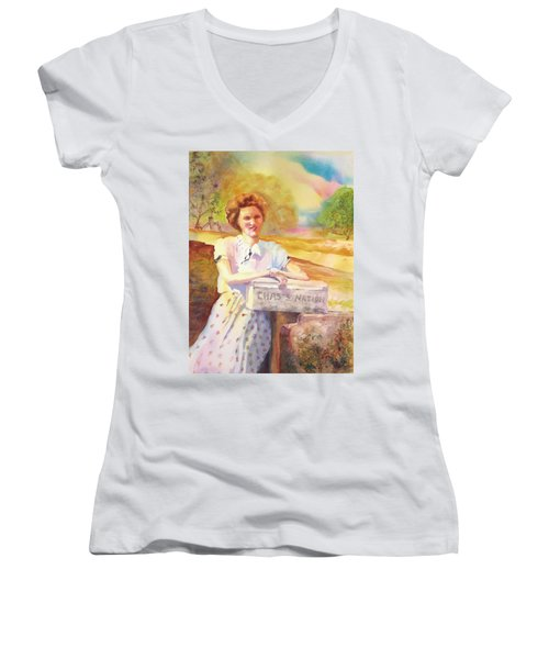 Patty Waiting For Richard Women's V-Neck T-Shirt